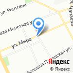Автомаркет на карте Санкт-Петербурга