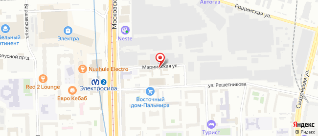 Карта расположения пункта доставки Санкт-Петербург Решетникова в городе Санкт-Петербург