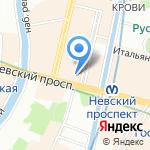 Оранж Тур на карте Санкт-Петербурга