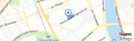 Средняя общеобразовательная школа №75 с углубленным изучением немецкого языка на карте Санкт-Петербурга