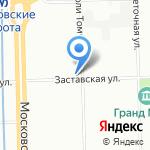 Лазурный берег на карте Санкт-Петербурга