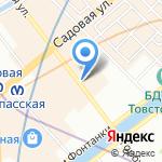 Крона на карте Санкт-Петербурга