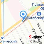 ТЭКО-СЕРВИС на карте Санкт-Петербурга