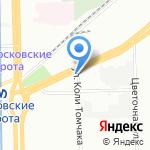 Отдел судебных приставов по Московскому району на карте Санкт-Петербурга