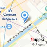 Ботик на карте Санкт-Петербурга