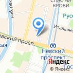 Егоров на карте Санкт-Петербурга