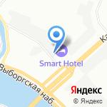 Кафетериум на карте Санкт-Петербурга
