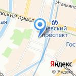 Магазин религиозной продукции на карте Санкт-Петербурга