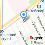 Петер Сваллоу на карте Санкт-Петербурга