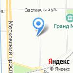 1-я Петербургская макаронная фабрика на карте Санкт-Петербурга