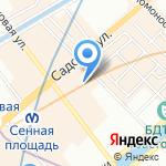 Русский мотор на карте Санкт-Петербурга