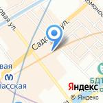 Школьная страна на карте Санкт-Петербурга