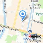 Ассоль на карте Санкт-Петербурга