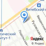 Балтспецфлот на карте Санкт-Петербурга
