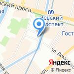 Аудиофон Нева на карте Санкт-Петербурга