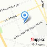 Альфа Усть-Луга на карте Санкт-Петербурга