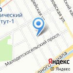 Приток на карте Санкт-Петербурга