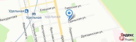 Киоск по продаже фруктов и овощей на карте Санкт-Петербурга