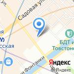 Мартовский заяц на карте Санкт-Петербурга