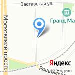 Оцелот на карте Санкт-Петербурга