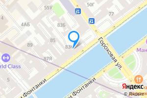 Сдается комната в двухкомнатной квартире в Санкт-Петербурге наб. реки Фонтанки, 83