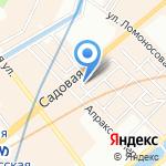 Сеть магазинов джинсовой одежды на карте Санкт-Петербурга