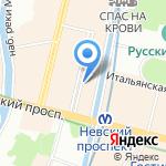 Любимые на карте Санкт-Петербурга
