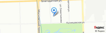 Зарайя на карте Санкт-Петербурга
