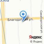 Пансион на карте Санкт-Петербурга