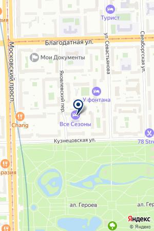 СТРОИТЕЛЬНАЯ КОМПАНИЯ РОС ИНЖИНИРИНГ на карте Санкт-Петербурга