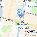 Дом Зингера на карте Санкт-Петербурга