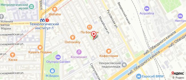 Карта расположения пункта доставки Санкт-Петербург Подольская в городе Санкт-Петербург
