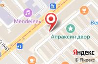 Схема проезда до компании Стежкофф в Санкт-Петербурге