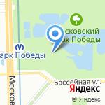 Храм всех святых в земле Российской просиявших на карте Санкт-Петербурга