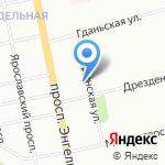 Каспи на карте Санкт-Петербурга