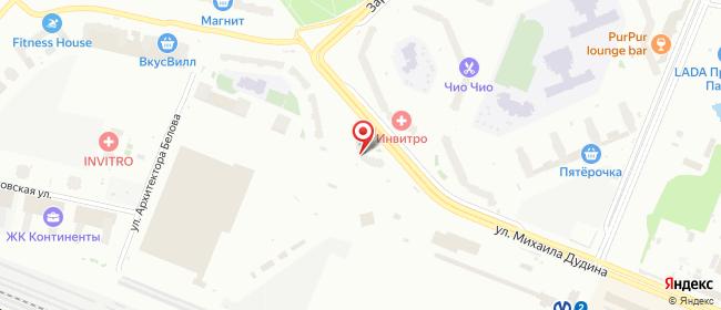 Карта расположения пункта доставки Lamoda/Pick-up в городе Парголово