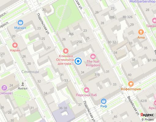 Товарищество собственников жилья «Подольская 30-32» на карте Санкт-Петербурга