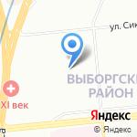 Северное на карте Санкт-Петербурга