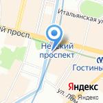 Кашемир и Шёлк на карте Санкт-Петербурга