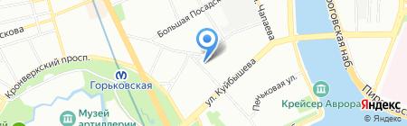 Мята на карте Санкт-Петербурга