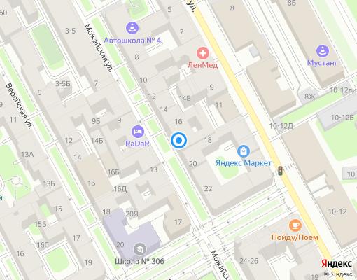 Товарищество собственников жилья «ТСЖ Можайская 18» на карте Санкт-Петербурга