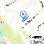 Леон-Макарон на карте Санкт-Петербурга