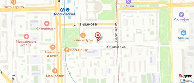 Карта расположения пункта доставки Санкт-Петербург Алтайская в городе Санкт-Петербург