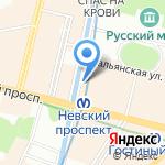 Центральное агентство воздушных сообщений на карте Санкт-Петербурга