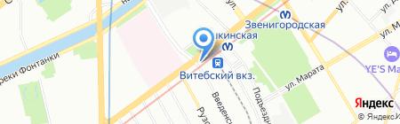 Ротонда на карте Санкт-Петербурга