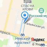 Фрикадельки на карте Санкт-Петербурга