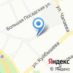 Магазин обуви и одежды на карте Санкт-Петербурга
