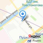 Муниципальное образование Семеновский округ на карте Санкт-Петербурга