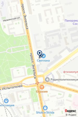 СПБ ФИЛИАЛ МОСКОВСКАЯ СТРАХОВАЯ КОМПАНИЯ на карте Санкт-Петербурга