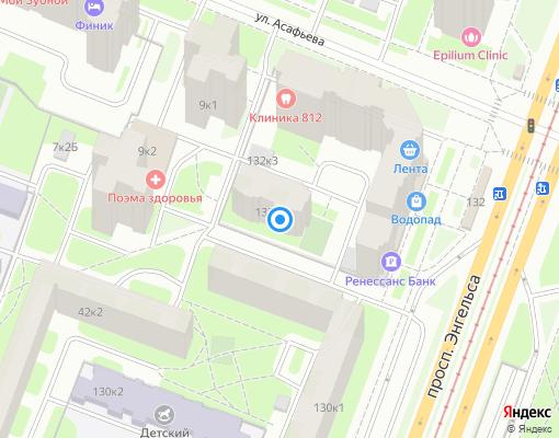Товарищество собственников жилья «Озерки-3» на карте Санкт-Петербурга